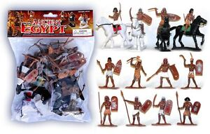 ANCIENT-EGYPT-TOY-SOLDIERS-Egyptians-12-Painted-Plastic-Figures-4-Horses-2-5-034