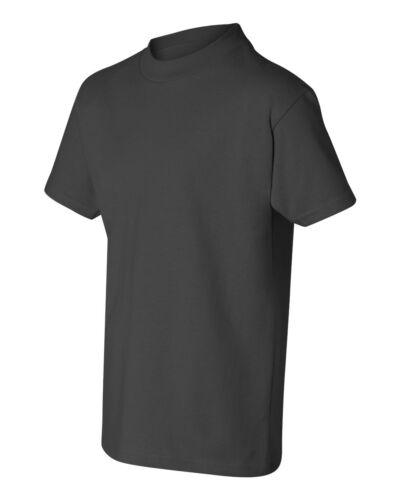 5450 Tagless Youth Boys Girls 100/% ComfortSoft cotton Tag-free T-Shirt Hanes