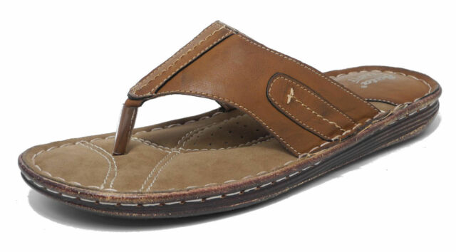 460390e67f0e7 Bata Comfort 861-4601 Brown Synthetic Slip On Casual Toe Posts EXTREME  COMFORT