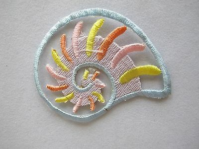 "#3299 2-1/4"" Ocean Conch Embroidery Iron On Applique Patch Laatste Mode"
