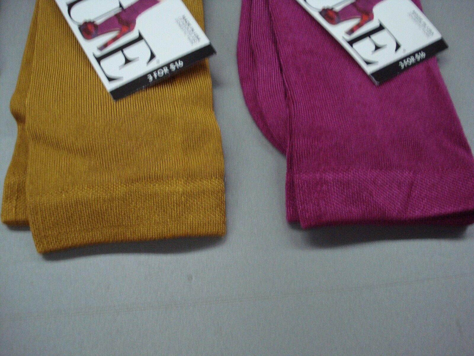 NWT Women/'s Hue Luster Flat Knit /& Brocade Socks One Size Multi 6 Pair #91J