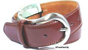 Leather-Brown-Money-Belt-Travel-Belt-L