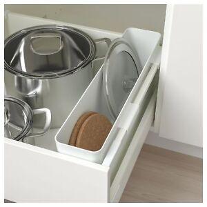 ikea variera  IKEA VARIERA White Gloss Hanging Storage box KITCHEN POT LIDS TRAYS ...