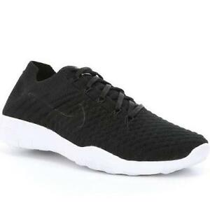 low priced 29405 55ee7 Image is loading Womens-NIKE-FREE-FLYKNIT-2-Black-Training-Trainers-
