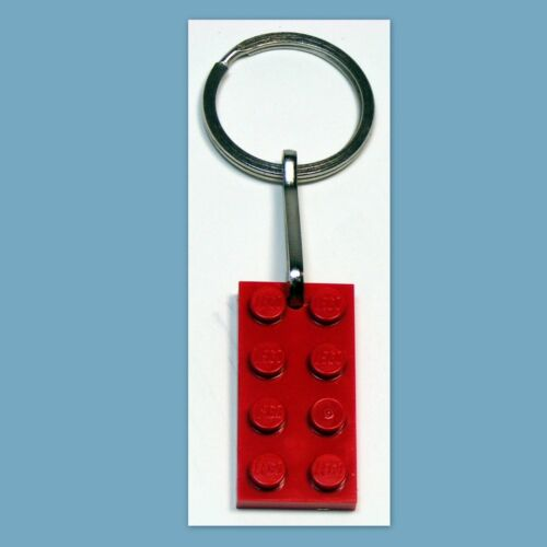 Game Prize Gifts Party Favors 50 Key Rings with Lego 3020 2x4 Red brick plate