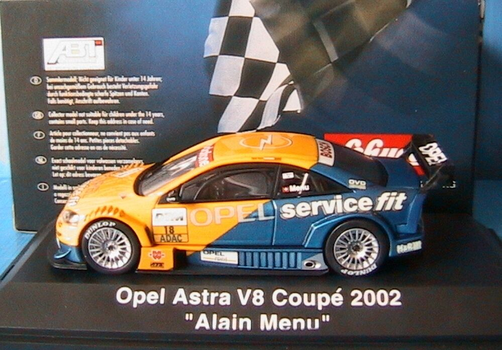 OPEL ASTRA V8 COUPE  18 DEUTSCHE TOURING WAGEN 2002 ALAIN MENU SCHUCO 04805 1 43