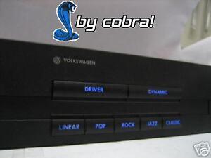 vw golf 4 iv nokia dsp bedienteil soundsystem blau led ebay. Black Bedroom Furniture Sets. Home Design Ideas