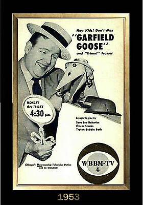 Magnet Television Garfield Goose Frazier Thomas Tv Guide 1953 Ebay