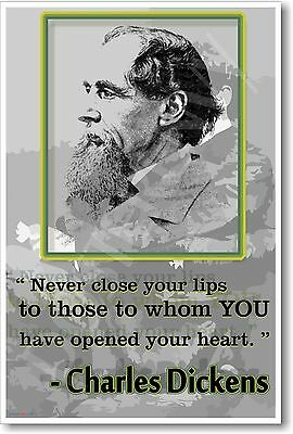 Never Close Your Lips - Charles Dickens - NEW Famous Person Classroom POSTER