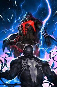 Venom-27-Inhyuk-Lee-Electric-Blue-Virgin-Variant-NM-Virus-Codex-Knull