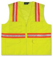 Erb S410 Surveyor Vest Non Ansi Rated - 10 Pockets - 2 Tone -nice Work Or Play