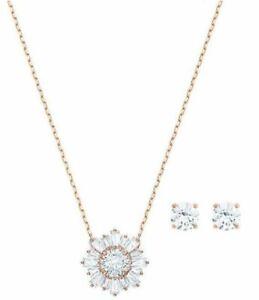 Details About Swarovski Sunshine Set Pendant Earrings Ros Crystal Authentic Mib 5480468