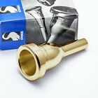 Stork BT4S Heavy Weight Large Shank 24K Gold Trombone Mouthpiece NEW