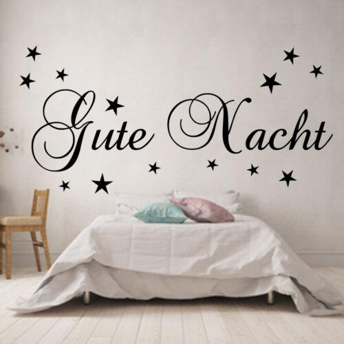 Wandtattoo Wandaufkleber Schlafzimmer Kinderzimmer Gute Nacht Sterne
