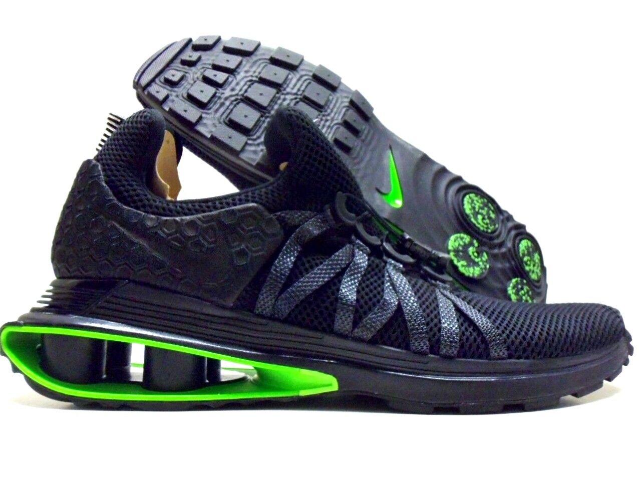 Nike sciopero shox gravit luxe nero / nero-green sciopero Nike dimensioni uomini 12 [ar1470-003] 064401