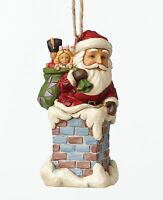 Heartwood Creek Santa in Chimney Hanging Ornament NEW in gift box - 27385