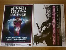 Mindless Self Indulgence - Scottish tour concert gig posters x 2