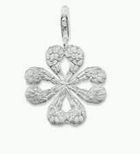 Sterling silver genuine thomas sabo angel oval locket pendant charm item 3 new genuine thomas sabo sterling silver angel wing clover leaf pendant t0322 89 new genuine thomas sabo sterling silver angel wing clover leaf mozeypictures Gallery