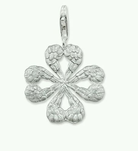 NEW Genuine Thomas Sabo Sterling Silver Angel Wing Clover Leaf Pendant T0322 £89