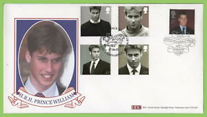 G-B-2003-HRH-Prince-William-set-on-double-date-BHC-First-Day-Cover-Caernarfon