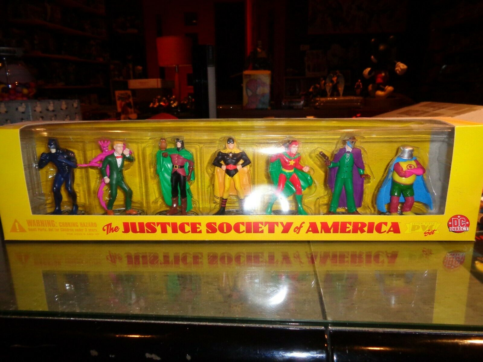DC Direct Justice Society of America 7 Pc PVC Set MIB Mint Series 1