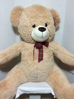 Giant Jumbo 40 Tan Bear Stuffed Plush Huge Super Soft Cuddly Best Made Toys
