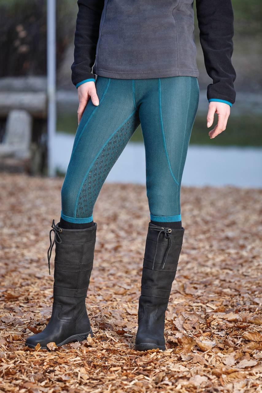 Dublin Equestrian Performance Warm-It Gel Ladies Riding Tights Lake SALE
