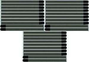 30x Bande Velcro Serre-câbles Fk 80 Cm X 50 Mm Noir Velcro Bandes Câble Velcro Avec œillet-afficher Le Titre D'origine