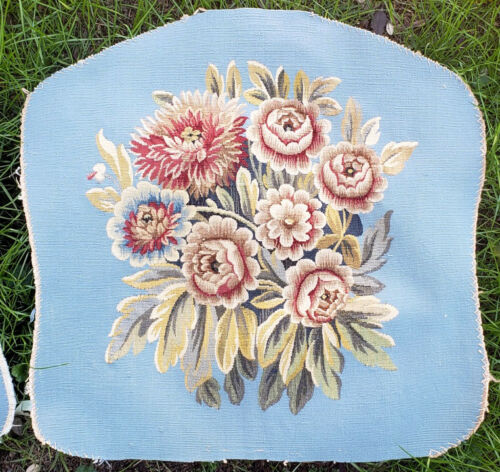 Two Silk Tapestry Chair Upholstery