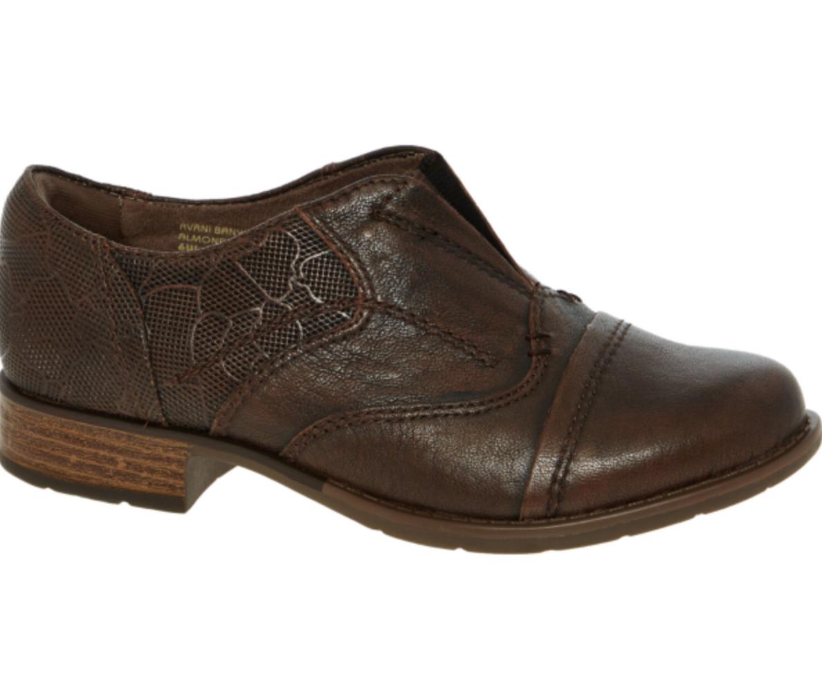 Earth Shoes en cuir marron femme Slip On Chaussures PowerPath La semelle intérieure Design