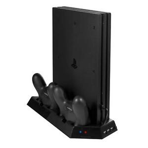 PS4-Ventola-Di-Raffreddamento-Cooler-Verticale-Stand-Supporto-Controller-Caricabatterie-Dock