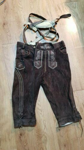 Suede Trachen Shorts Brown Livergy Size M-L