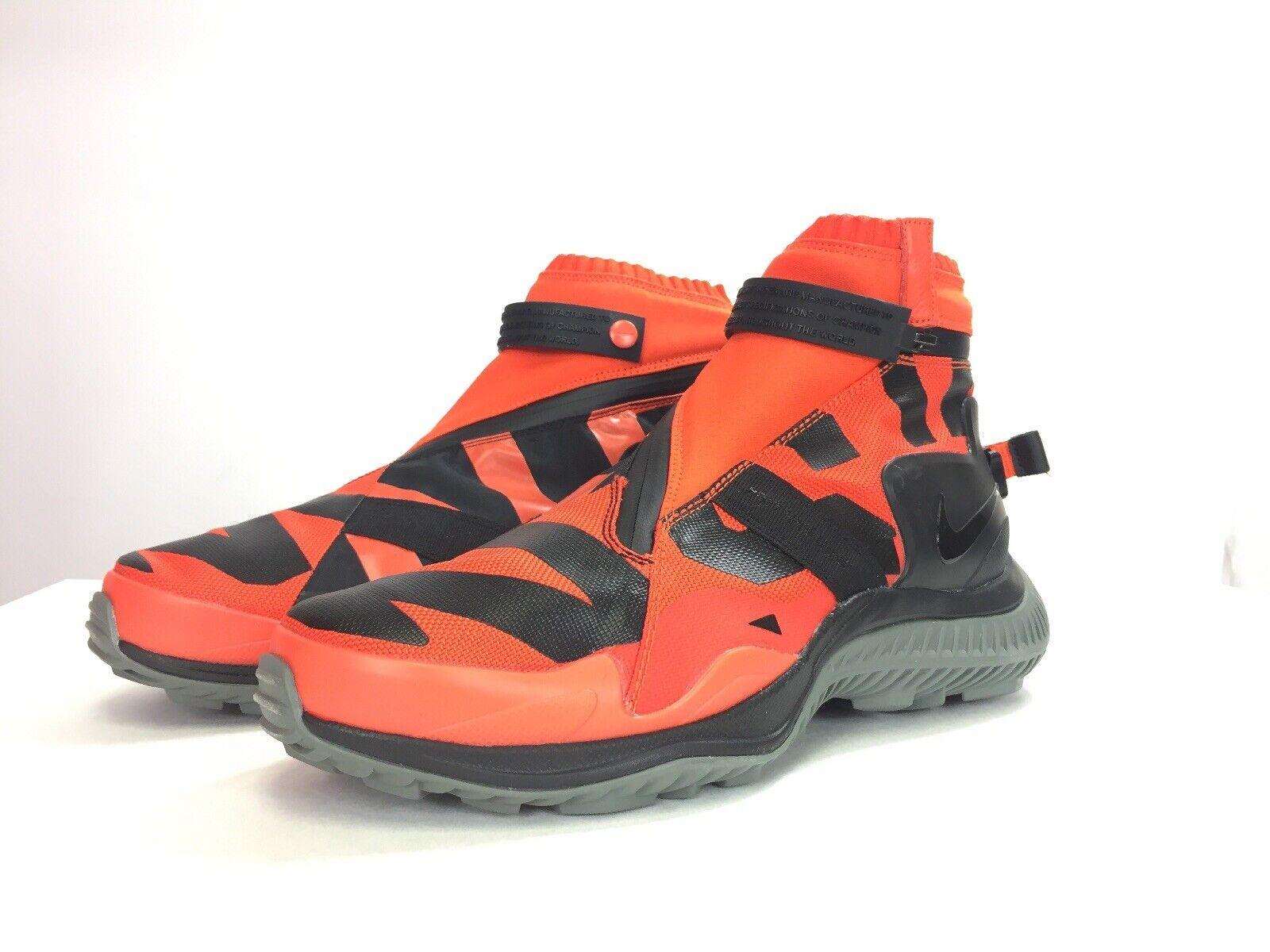 Nike Men's Nikelab NSW Gaiter Boot Team orange Olympic AA0530 800 Sz 10