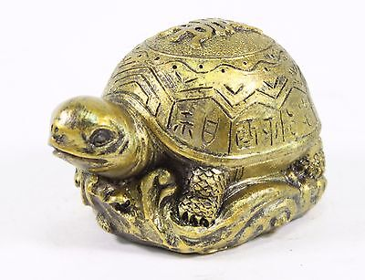 WOODEN TURTLE Hand Carved Figurine Handmade Feng Shui Home Decor Collect Gift