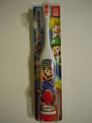 Arm & Hammer Super Mario Brothers Kid's Battery Powered Spinbrush Toothbrush | eBay