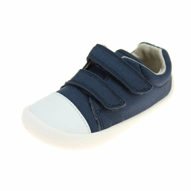 6d4f2e3d7f9b Clarks Baby Boy Navy Canvas Cruiser Shoes Size 4f () for sale online ...