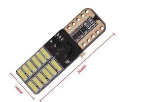 2x-Bombillas-LED-T10-CANBUS-COB-W5W-24SMD-Bombilla-Posicion-Matricur-luz-blanco