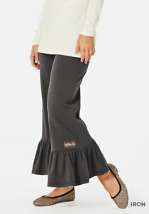 Matilda-Jane-Iron-Big-Ruffles-Size-Small-Pants-Dark-Gray-Womens-New-In-Bag