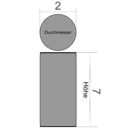 50er Set Scheibenmagnet Durchmesser 2x7 mm Neodym vernickelt Supermagnet N45