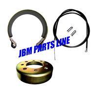 Go Kart 4 Brake Kit, Mini Bike Brake Band And Drum With Heavy Duty Cable.