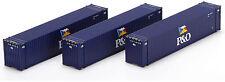Athearn HO Scale 45' Intermodal Shipping Container P&O Blue/Flag Logo 3-Pack