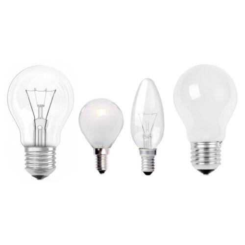 10x Glühbirne Glühlampe Tropfen Kerzen Birnen E27 E14 klar /& matt Restposten