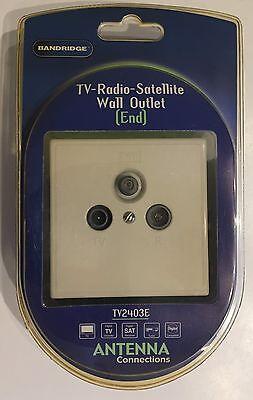 Bandridge Tv2403e Tv-radio Sateliten Dose Einbaudose Sat Neu Und Ovp