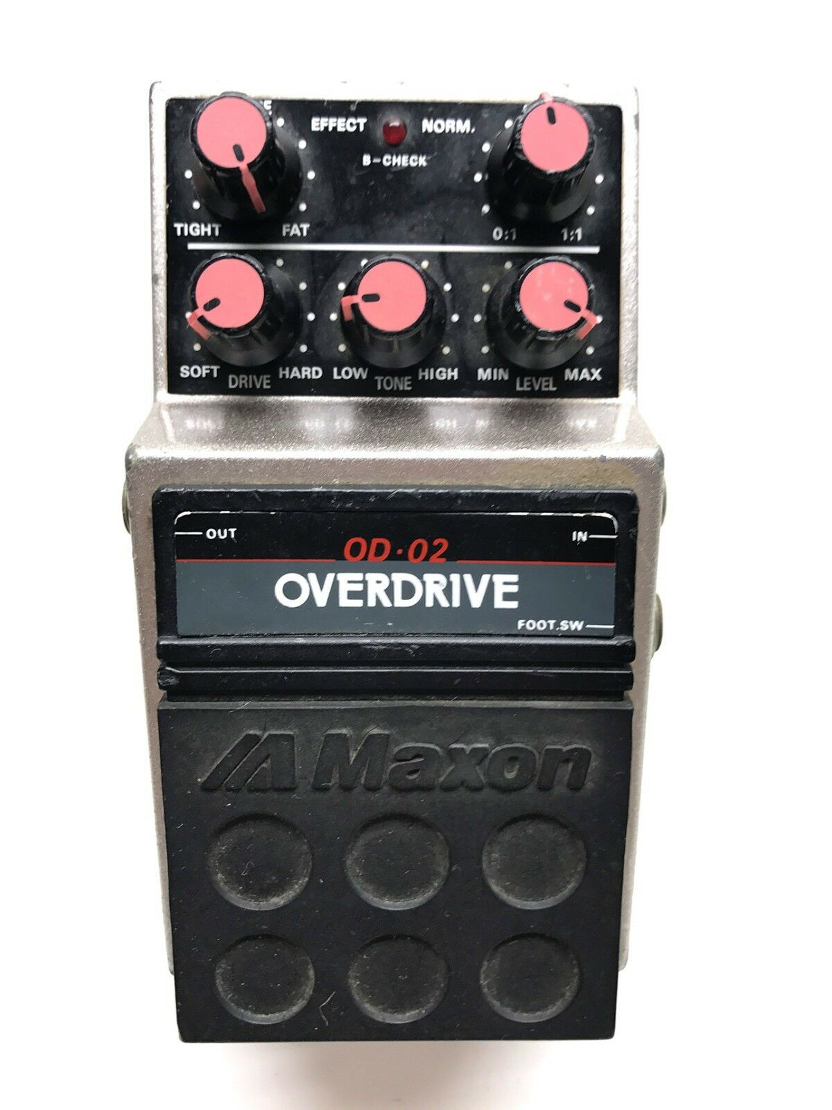 Maxon OD-02, Overdrive, Made In Japan, 1980's, Guitar Effect Pedal