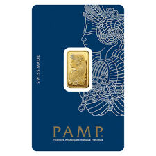 5 g Gram Gold Bar PAMP - Lady Fortuna Design & VeriScan - Pamp Suisse