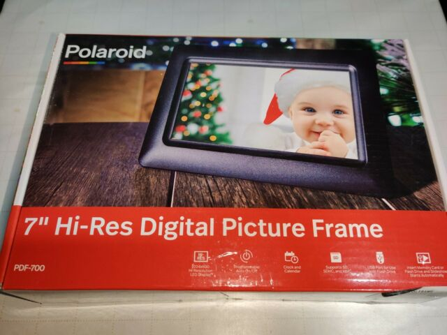 Polaroid Digital Picture Frame, 7 inch Display MODEL# PDF-700 Ships 🆓 A7