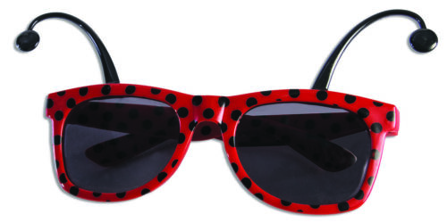 Ladybug Sunglasses Costume Accessory