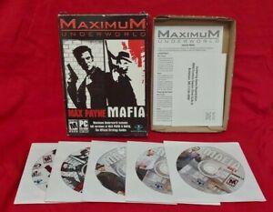 Maximum-Underworld-Max-Payne-Mafia-PC-Game-PC-2004-Rated-M-All-5-Discs-Rare