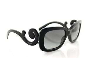 3ffaa8cfc0e5 Image is loading RARE-Genuine-PRADA-Baroque-Square-Black-Sunglasses-SPR-