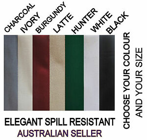 Elegant spill resistant tablecloth 7 colors 16 sizes poly cotton free
